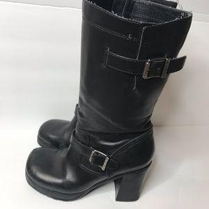 Harley Davidson Black Soho Motorcycle Boots Size 6
